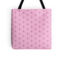 Pink and Black Stars Tote Bag