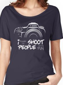 Shoot People for Fun Cartoonist Version (v2) - inverted Women's Relaxed Fit T-Shirt