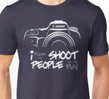 Shoot People for Fun Cartoonist Version (v2) - inverted Unisex T-Shirt