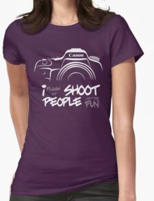 Shoot People for Fun Cartoonist Version (v2) - inverted Womens Fitted T-Shirt