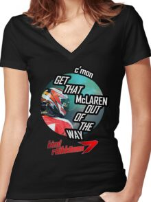 Hilarious Kimi Team Radio - Chinese GP 2015 Women's Fitted V-Neck T-Shirt