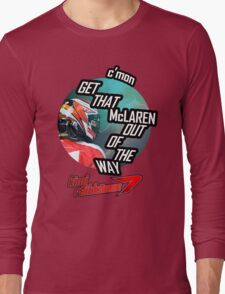 Hilarious Kimi Team Radio - Chinese GP 2015 Long Sleeve T-Shirt