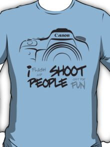 Shoot People for Fun Cartoonist Version (v2) T-Shirt