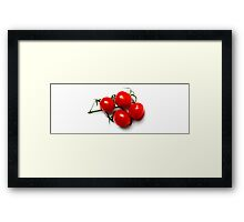 Tomatoes in Red Framed Print