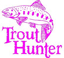 GIRL TROUT HUNTER Photographic Print