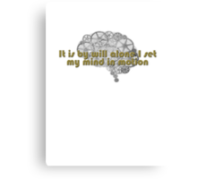 Mentat mantra Canvas Print