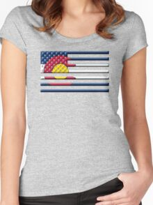 Proud to be a Coloradan! Women's Fitted Scoop T-Shirt