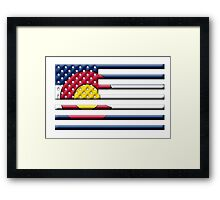 Proud to be a Coloradan! Framed Print