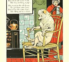 The Mother Hubbard Picture Book by Walter Crane - Plate 16 - Took a Clean Dish, Went to the Ale House by wetdryvac