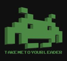 Space Invaders - Take Me To Your Leader - Green by creepingdeath90