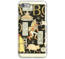 The Mother Hubbard Picture Book by Walter Crane - Plate 50 - The Absurd ABC - A B C D iPhone Case/Skin