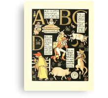 The Mother Hubbard Picture Book by Walter Crane - Plate 50 - The Absurd ABC - A B C D Canvas Print