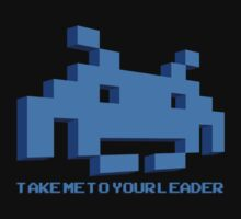 Space Invaders - Take Me To Your Leader - Blue by creepingdeath90