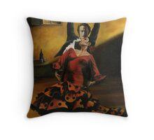 Flamenco Dancers Throw Pillow