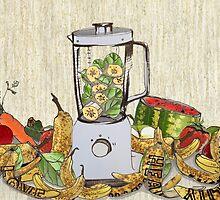 Banana's and spinach  by crayvagay
