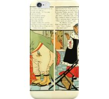 The Mother Hubbard Picture Book by Walter Crane - Plate 38 - Three Bears - Broken Chair iPhone Case/Skin