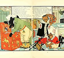 The Mother Hubbard Picture Book by Walter Crane - Plate 38 - Three Bears - Broken Chair by wetdryvac