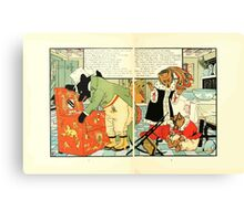 The Mother Hubbard Picture Book by Walter Crane - Plate 38 - Three Bears - Broken Chair Canvas Print