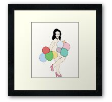 Balloon Dance Framed Print