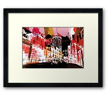 City Collage Framed Print