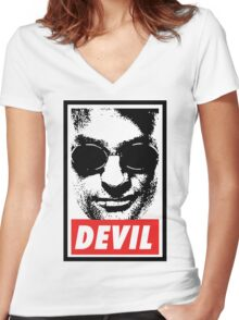 Obey - Daredevil Women's Fitted V-Neck T-Shirt