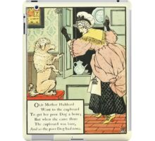 The Mother Hubbard Picture Book by Walter Crane - Plate 12 - Went to the Cupboard iPad Case/Skin