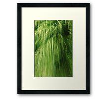 Greenfall (conceptual) Framed Print