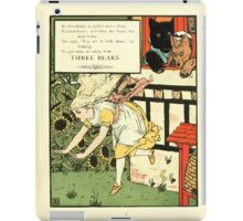 The Mother Hubbard Picture Book by Walter Crane - Plate 45 - Three Bears - Run Away iPad Case/Skin