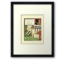The Mother Hubbard Picture Book by Walter Crane - Plate 45 - Three Bears - Run Away Framed Print