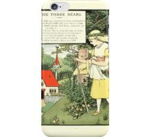 The Mother Hubbard Picture Book by Walter Crane - Plate 32 - Three Bears - Some Time Ago iPhone Case/Skin