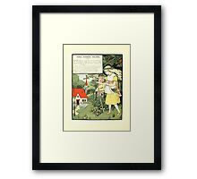 The Mother Hubbard Picture Book by Walter Crane - Plate 32 - Three Bears - Some Time Ago Framed Print