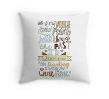 Vanilla Twilight Throw Pillow