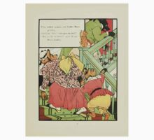 The Mother Hubbard Picture Book by Walter Crane - Plate 41 - Thee Bears - Who Slept In My Bed Kids Tee