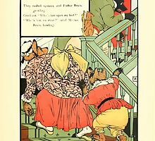 The Mother Hubbard Picture Book by Walter Crane - Plate 41 - Thee Bears - Who Slept In My Bed by wetdryvac