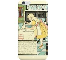 The Mother Hubbard Picture Book by Walter Crane - Plate 33 - Three Bears - No One Home iPhone Case/Skin