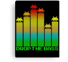 Space Invaders - Drop The Bass Canvas Print