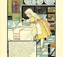 The Mother Hubbard Picture Book by Walter Crane - Plate 33 - Three Bears - No One Home by wetdryvac