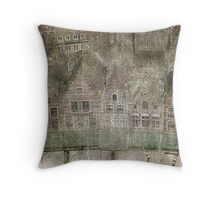 Faded Memories-Bruges Throw Pillow