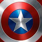 captain america - sheild by Evabee