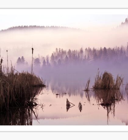 Misty Morning on the Lake Sticker
