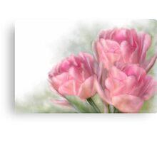 Angelique Tulips Canvas Print