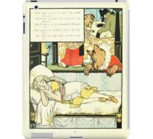 The Mother Hubbard Picture Book by Walter Crane - Plate 44 - Three Bears - She's In My Bed iPad Case/Skin