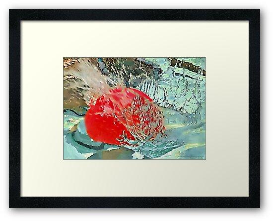 red ball splash  by Tess Buckler