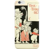 The Mother Hubbard Picture Book by Walter Crane - Plate 29 - Re-Issue Three Bears iPhone Case/Skin