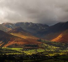 Storm Clouds Over The Western Fells by john collier