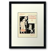 The Mother Hubbard Picture Book by Walter Crane - Plate 09 - Re-issue Picture Framed Print