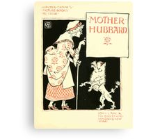 The Mother Hubbard Picture Book by Walter Crane - Plate 09 - Re-issue Picture Canvas Print