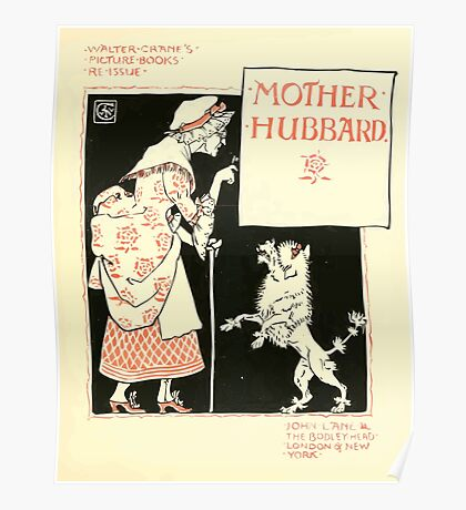 The Mother Hubbard Picture Book by Walter Crane - Plate 09 - Re-issue Picture Poster