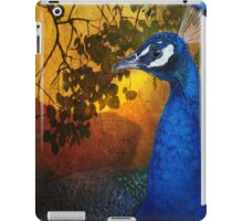 golden light peacock portrait iPad Case/Skin