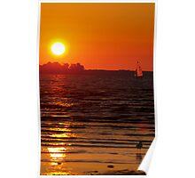 An Evening at The Beach Poster